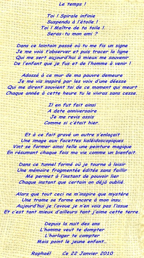 2009-01-22 Le temps !