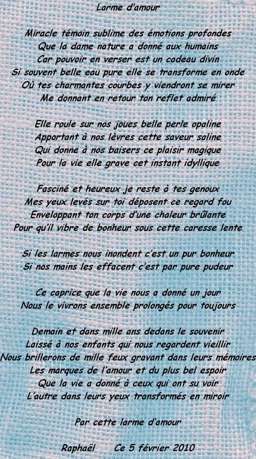 2010-02-05 Larme d'amour